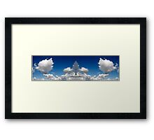 Mirror image clouds panorama Framed Print