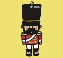 London guard toy soldier with mustache  Kids Tee