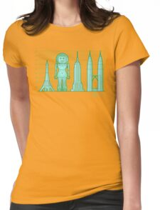 robodoll and skyscrapers Womens Fitted T-Shirt