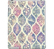 Patterned & Painted Floral Ogee in Vintage Tones iPad Case/Skin