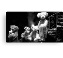 Paris - Teddy's family. Canvas Print