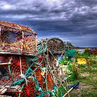 Lobster Pots & The Castle by Ryan Davison Crisp