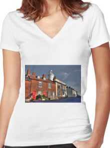 The Pub & the Lighthouse Women's Fitted V-Neck T-Shirt