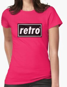 Retro - Black  Womens Fitted T-Shirt