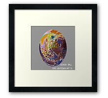 ( SCREW  BALL ) ERIC WHITEMAN  ART  Framed Print