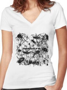 Insects ! Women's Fitted V-Neck T-Shirt