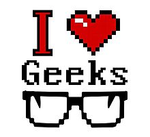 I Heart Geeks Photographic Print