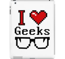I Heart Geeks iPad Case/Skin