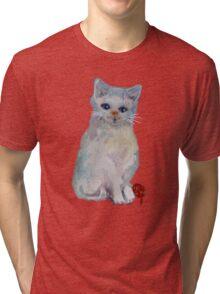 White Cat (Art)   T SHIRT/Baby GROW/Sticker Tri-blend T-Shirt