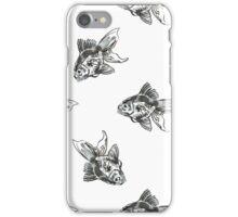 golden fish ink pattern iPhone Case/Skin