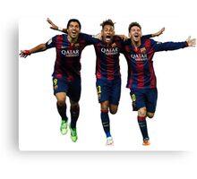 Messi Suarez Neymar Canvas Print