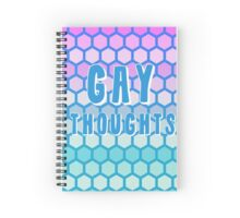 gay thoughts Spiral Notebook