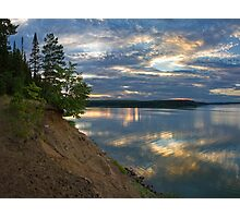 Epic sky and deep water reflection Photographic Print