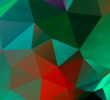 Green Polygon Art Sticker
