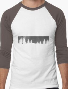 Deer and Trees -Transparent Silhouette Men's Baseball ¾ T-Shirt