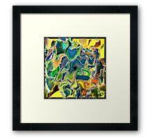 ( DON`T PUSH  ME )    ERIC  WHITEMAN ART  Framed Print