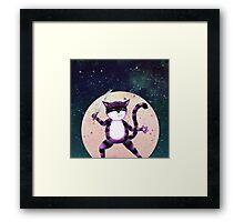 NINJA CAT Framed Print