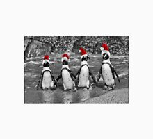 Penguins with Santa Claus caps Unisex T-Shirt