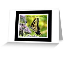 Butterfly and bee (Sharing brings sweet rewards) Greeting Card