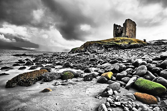 Minard Castle Beach (selective) by Polly x