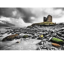 Minard Castle Beach (selective) Photographic Print