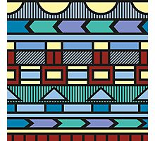 Bright colorful abstract  geometric pattern with different elements Photographic Print