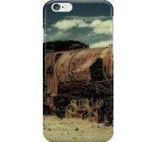 train cemetery, Salar de Uyuni, Bolivia iPhone Case/Skin