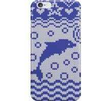 Dolphins knitted pattern iPhone Case/Skin