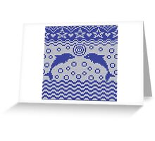 Dolphins knitted pattern Greeting Card