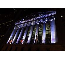 Big Money - New York Stock Exchange in Purple Photographic Print