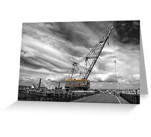 Ryde a big crane..! Greeting Card
