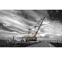 Ryde a big crane..! Photographic Print