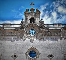 Lluc monastery church front, Mallorca. by Tigersoul