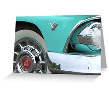 1955 Ford Fairlane Hotrod with Cadillac Hubcaps Greeting Card
