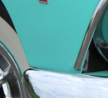1955 Ford Fairlane Hotrod with Cadillac Hubcaps Sticker