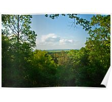 Bluff Overlook at Campsite Poster