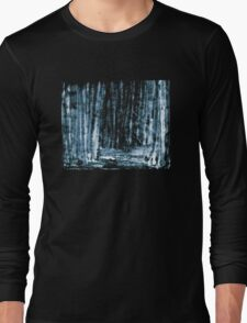 Night Forest Texture Long Sleeve T-Shirt