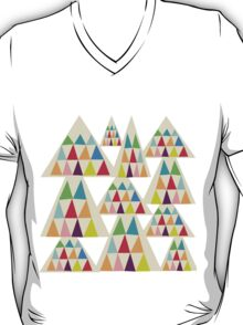 Colorful Geometric Triangle T-Shirt