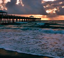 Sunrise at the Pier, Juno Beach, FL by nancyb926