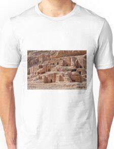 facade street in Nabataean ancient town Petra Unisex T-Shirt