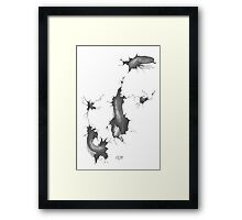 snake in the paper Framed Print