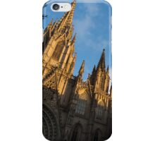 Warm Sun Glow On The Cathedral Of Barcelona iPhone Case/Skin