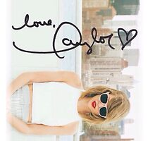 Taylor Swift 1989 'love, Taylor' autograph by lucyc13