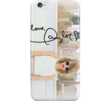 Taylor Swift 1989 'love, Taylor' autograph iPhone Case/Skin