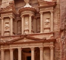 the treasury Nabataean ancient town Petra Sticker