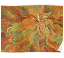 """""""Flower Wild"""" - Abstract Floral Silk Painting Poster"""