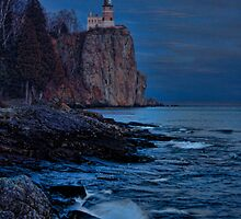 Moonlight Over Lighthouse by by M LaCroix