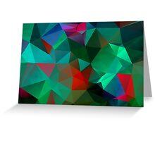 Green Polygon Art Greeting Card