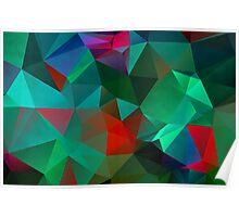 Green Polygon Art Poster