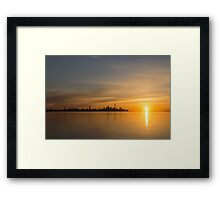TO Sunrise - Bright, Bold and Beautiful  Framed Print